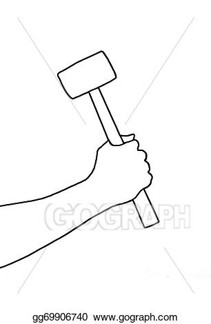 Clipart hammer big hammer. Stock illustration gg gograph