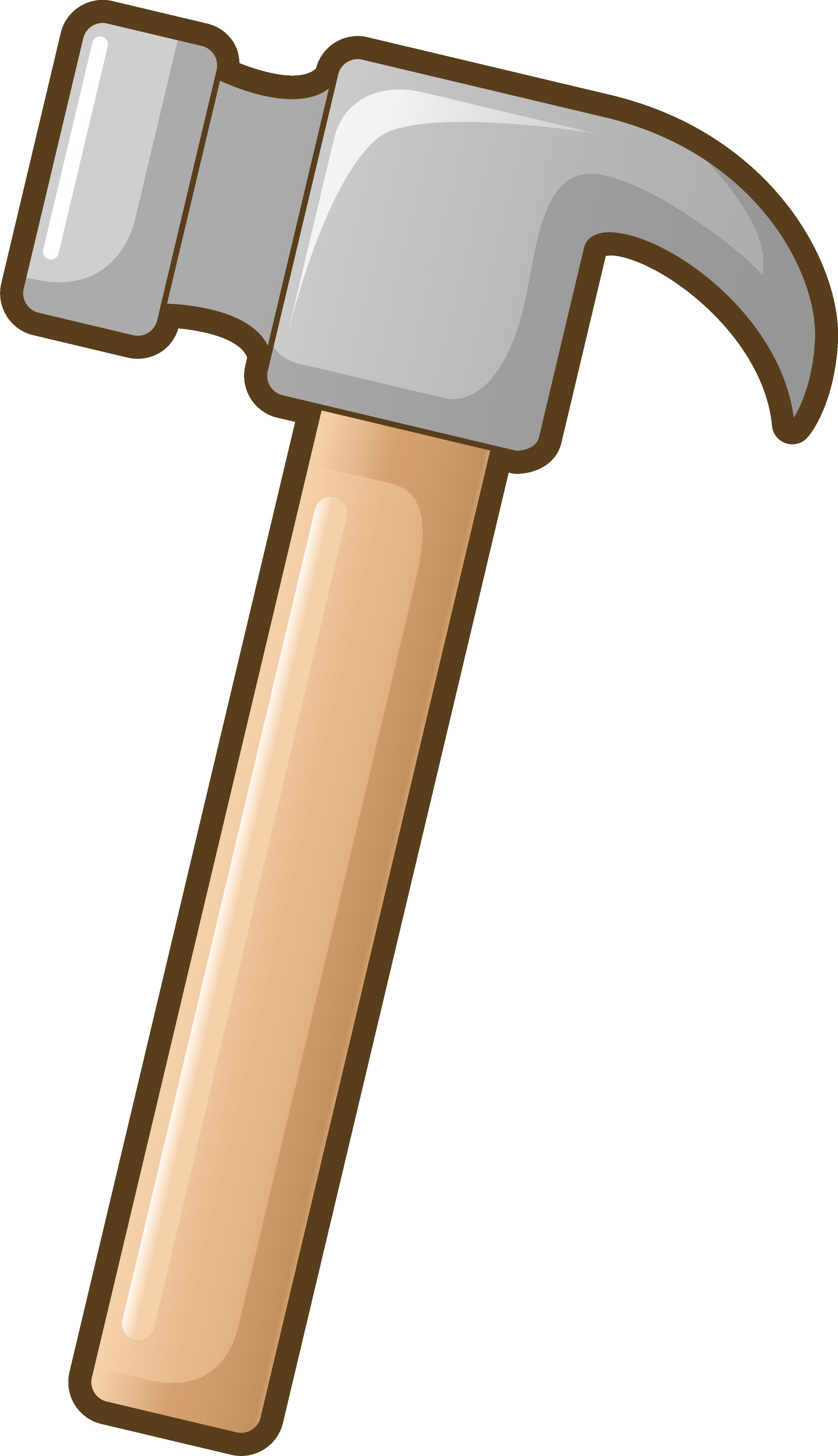 Cartoon simple gray transprent. Clipart hammer building tool