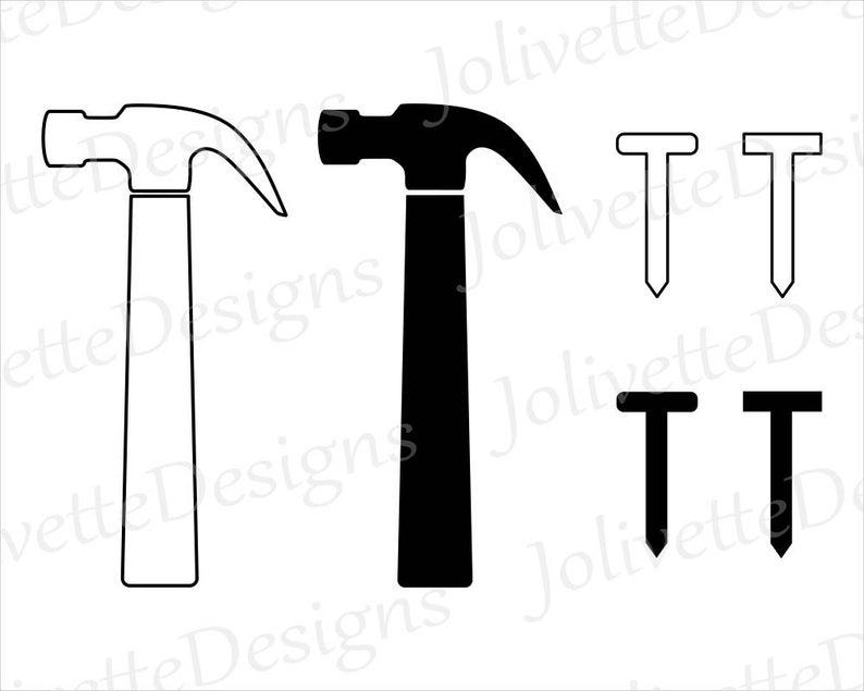 Nail nails tool clip. Clipart hammer carpenter