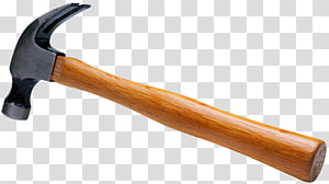 Clipart hammer carpentry tool. Brown and black curved