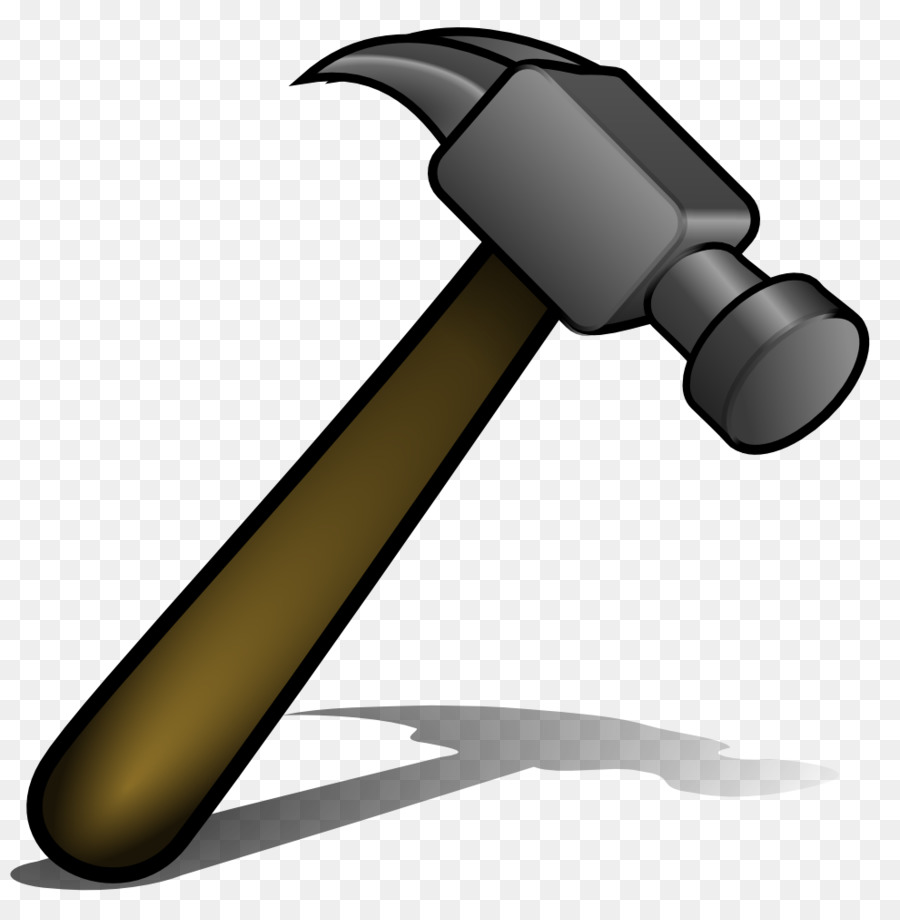 Cartoon png download free. Clipart hammer carpentry tool