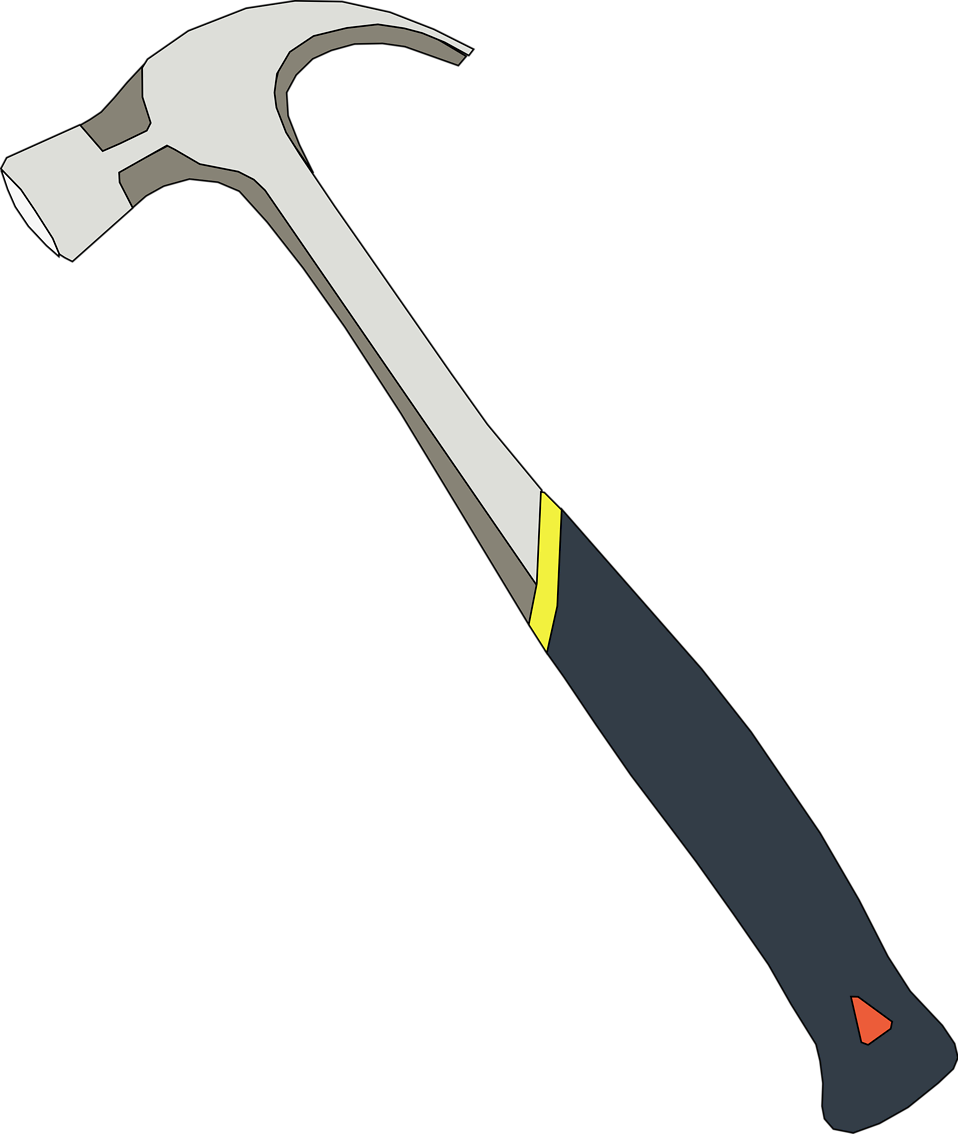 Clipart hammer clear background. Free stock photo illustration