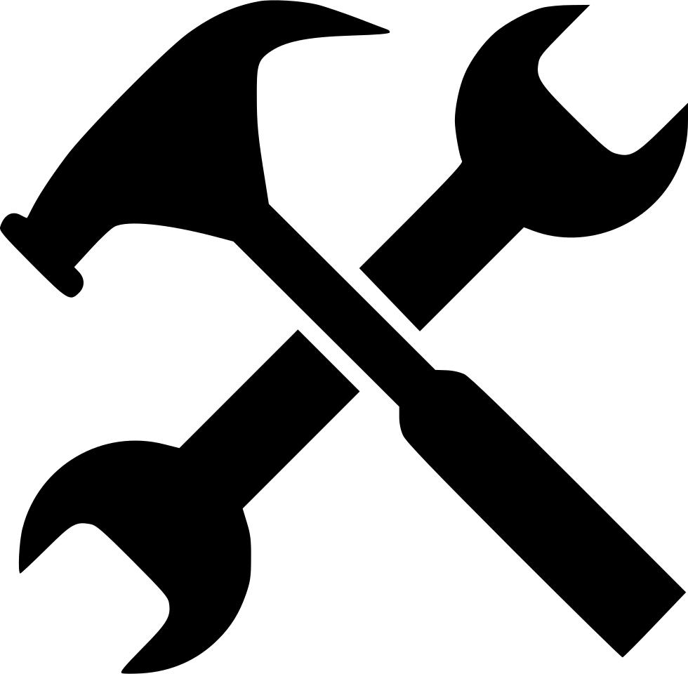 Clipart hammer design technology tool. Gear job options service
