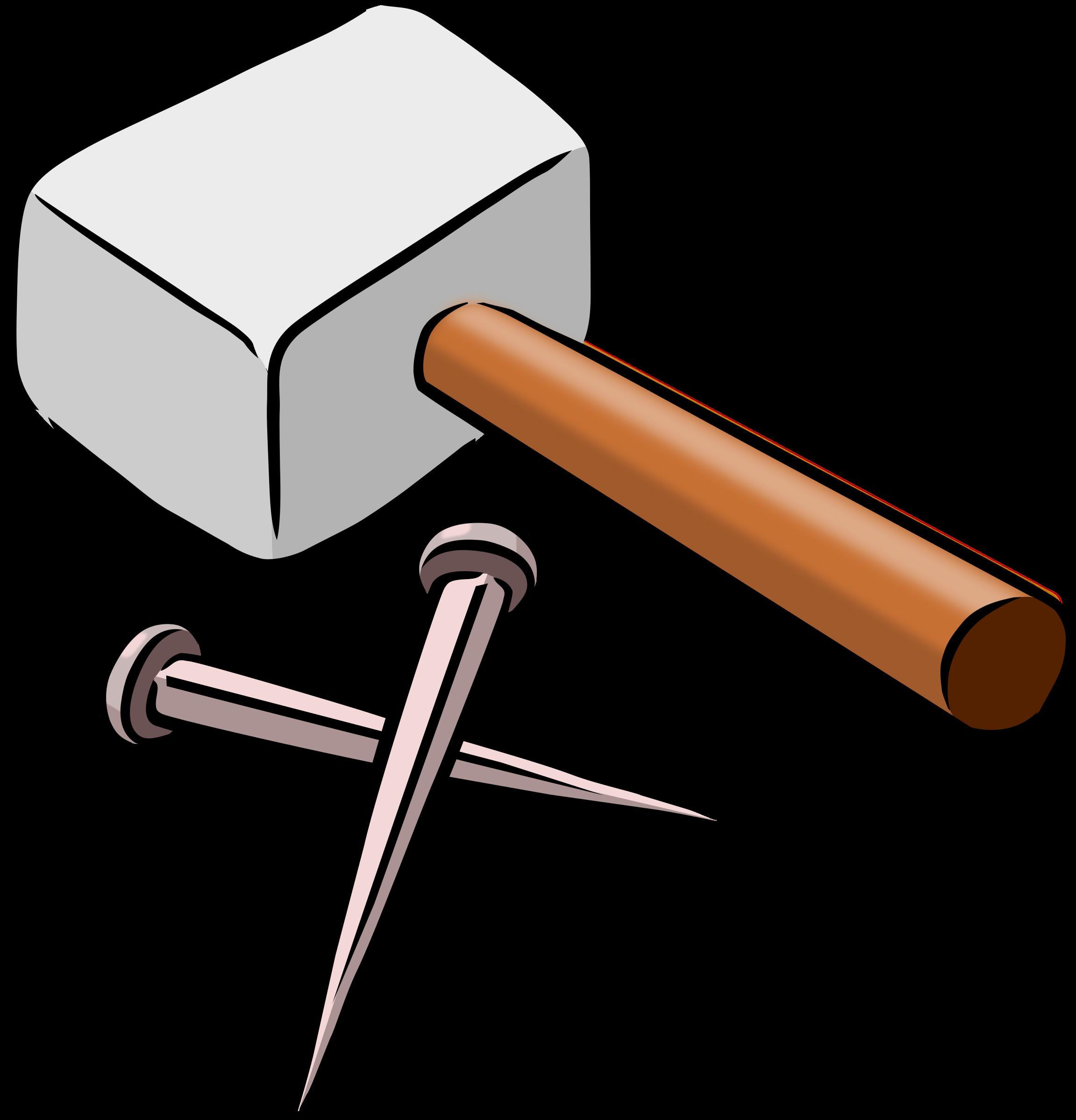 Nail clipart small hammer. And nails icons png