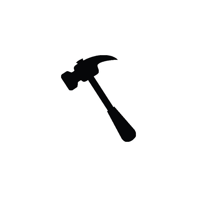 Repair tools construction vector. Clipart hammer design technology tool
