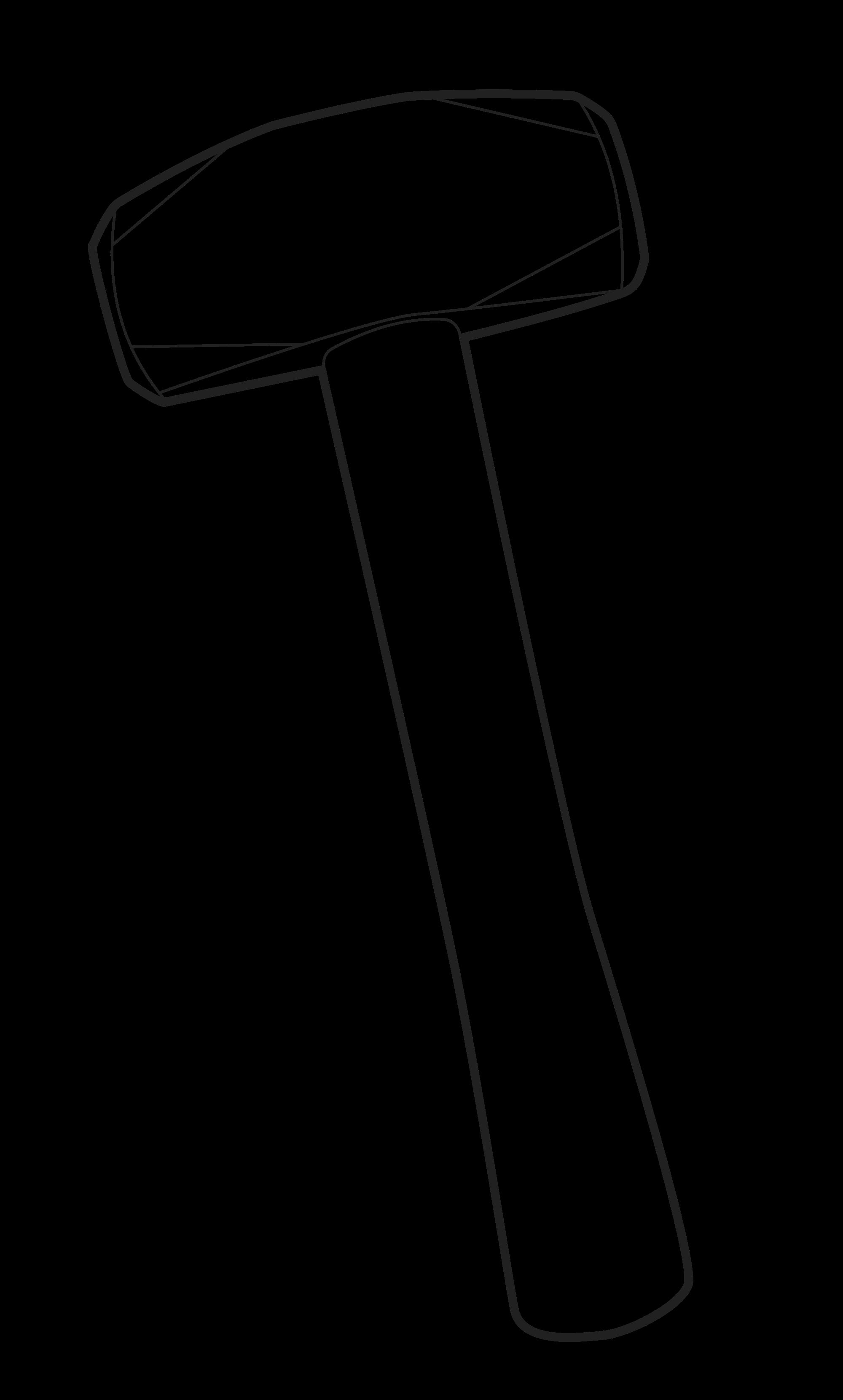 Hammer clipart sketch. Drawing at getdrawings com