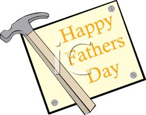 Clipart hammer father's day. A with happy fathers