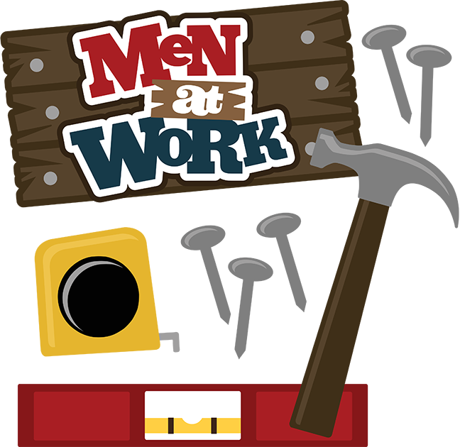 Men at work svg. Clipart hammer father's day