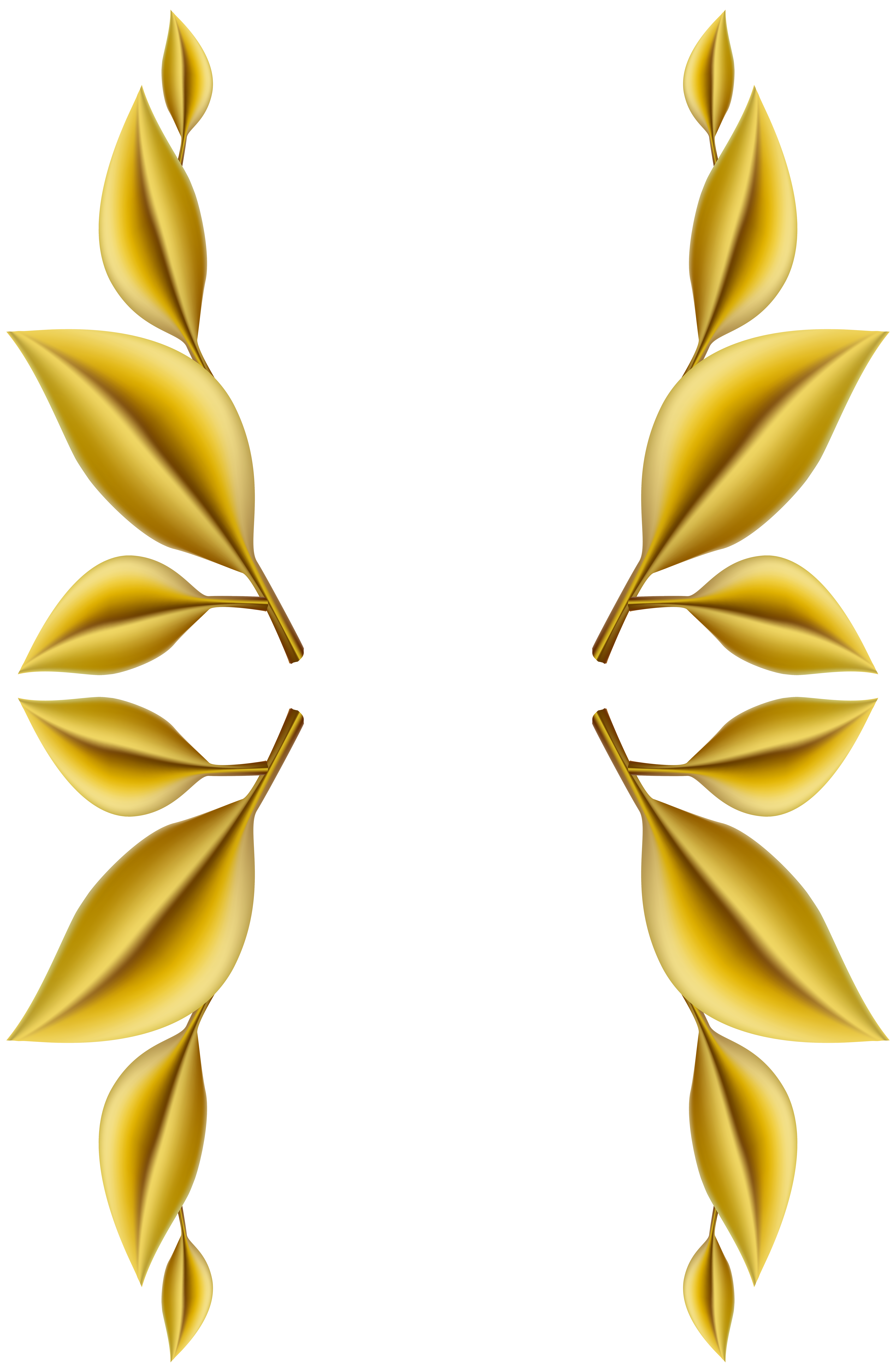 Clipart leaves decoration.  collection of gold