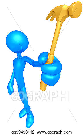 Drawing gg gograph . Hammer clipart gold
