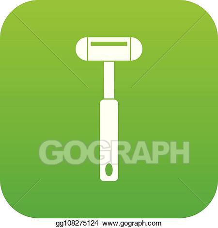 Clipart hammer green. Vector reflex icon digital