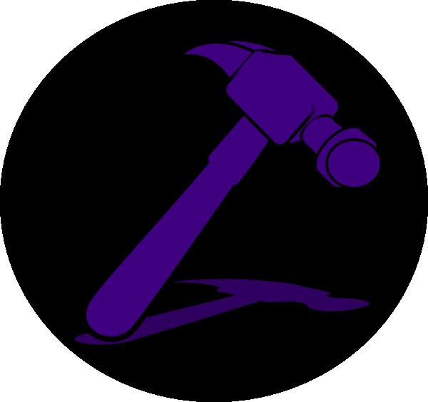 Purple clip art at. Clipart hammer green