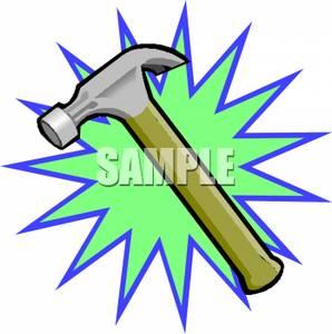 Clip art image a. Clipart hammer green