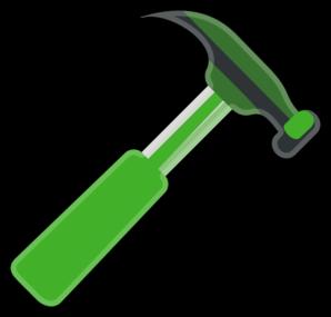 Gray clip art at. Clipart hammer green