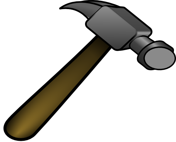 Clipart hammer h be for. Clip art at clker