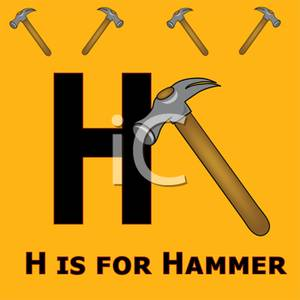 Is royalty free picture. Clipart hammer h be for