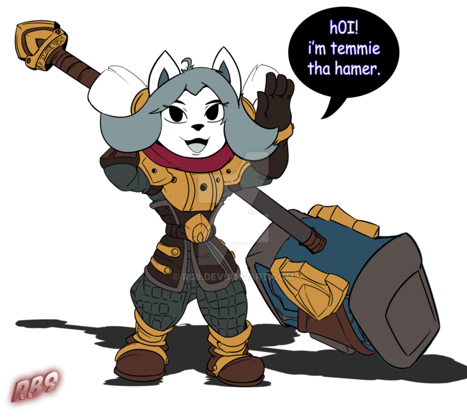 Clipart hammer hamer. Temmie the by rb