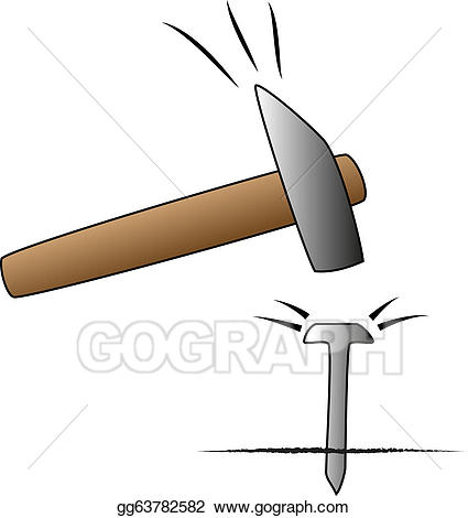 Clipart hammer hammer nail. Eps illustration and vector