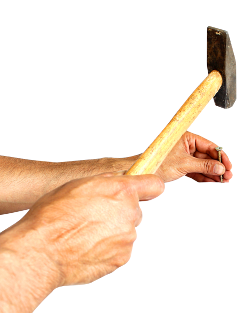 Hammering a png image. Clipart hammer hammer nail