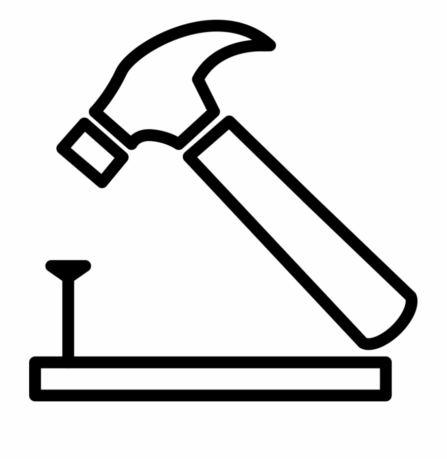 Png file svg of. Clipart hammer hammer outline