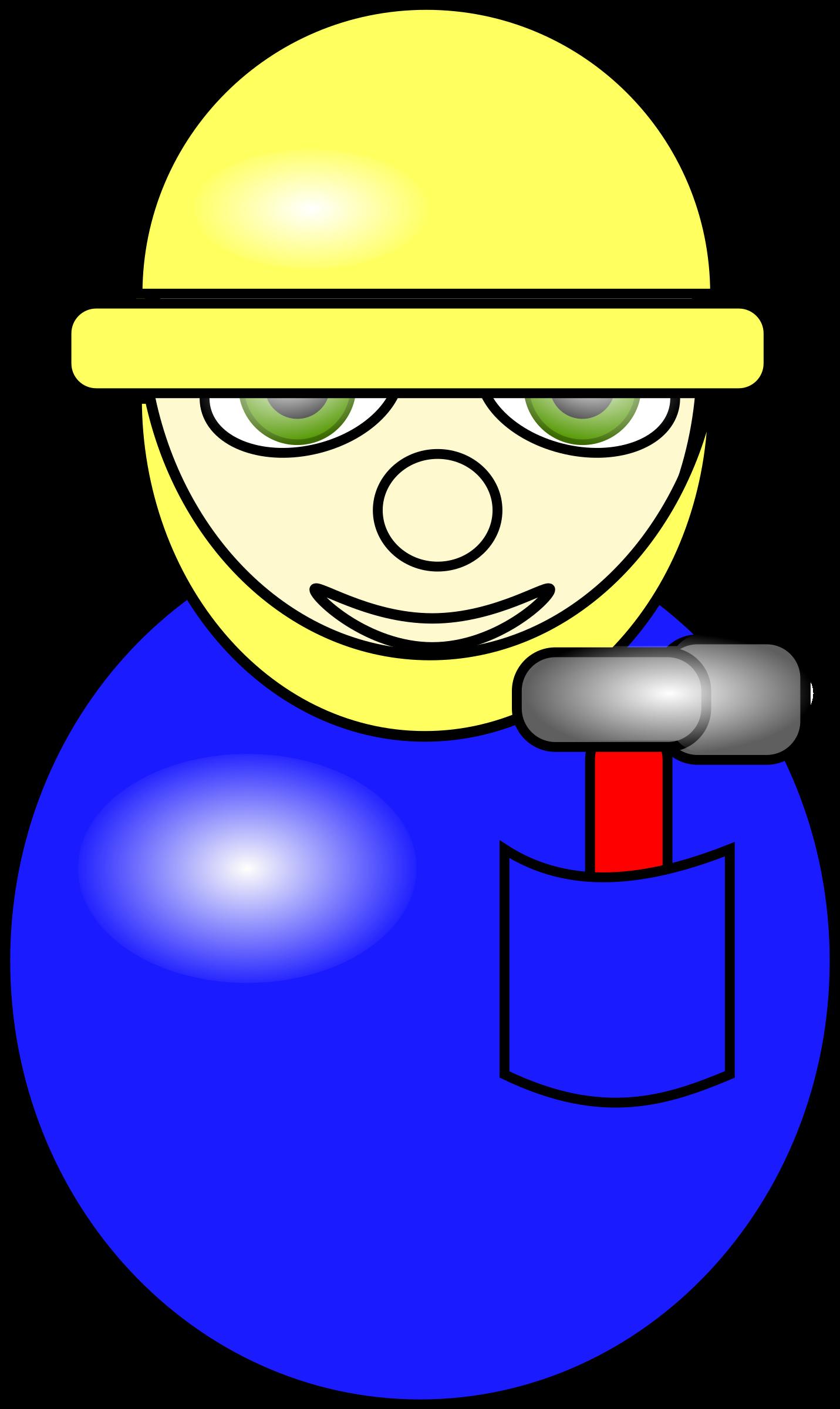 Contractor clipart project coordinator. Construction worker cartoon in