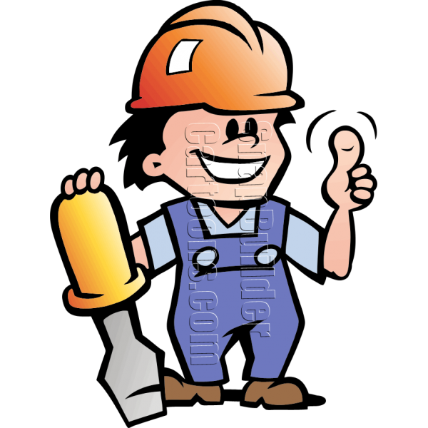 Clipart hammer hard object. Mechanic man with screwdriver