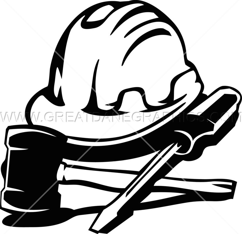 Construction hat tools production. Clipart hammer hard thing