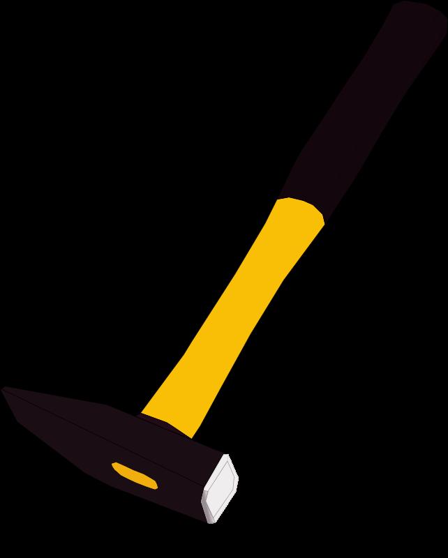 Hammer clipart yellow hammer. Medium image png