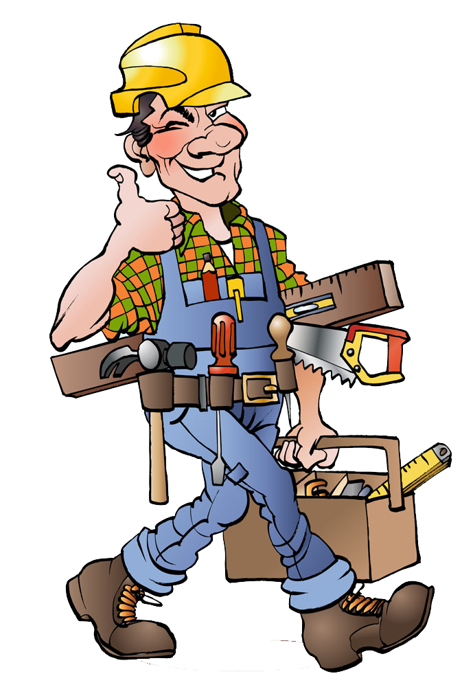 Clipart hammer illustration. Cartoon carpenter drawing workers