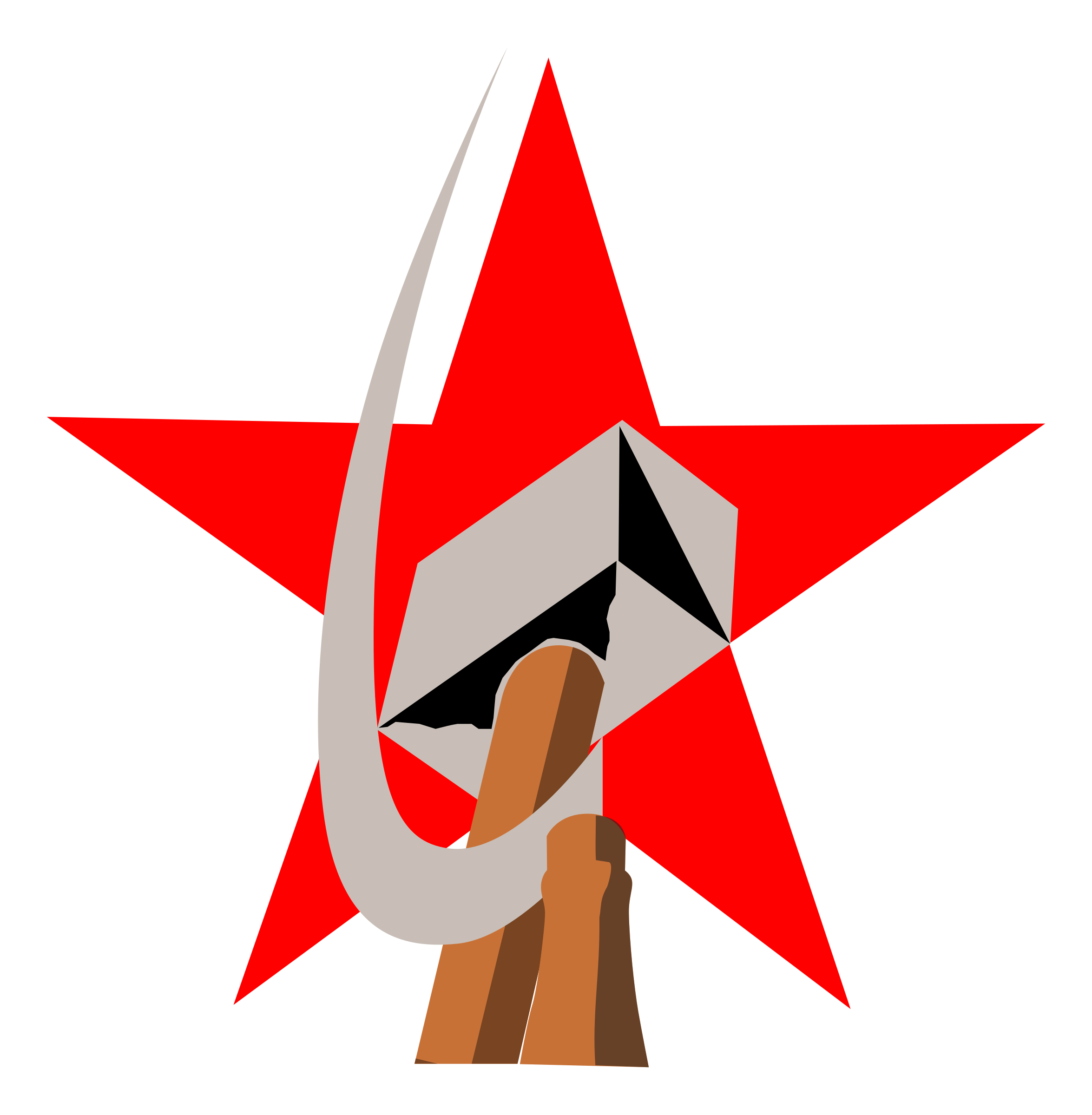 Clipart hammer illustration. And sickle in star