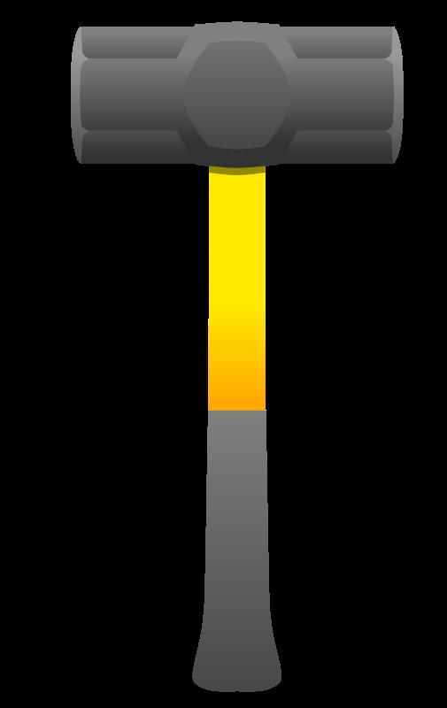 Hammer clipart rock hammer. Sledgehammer
