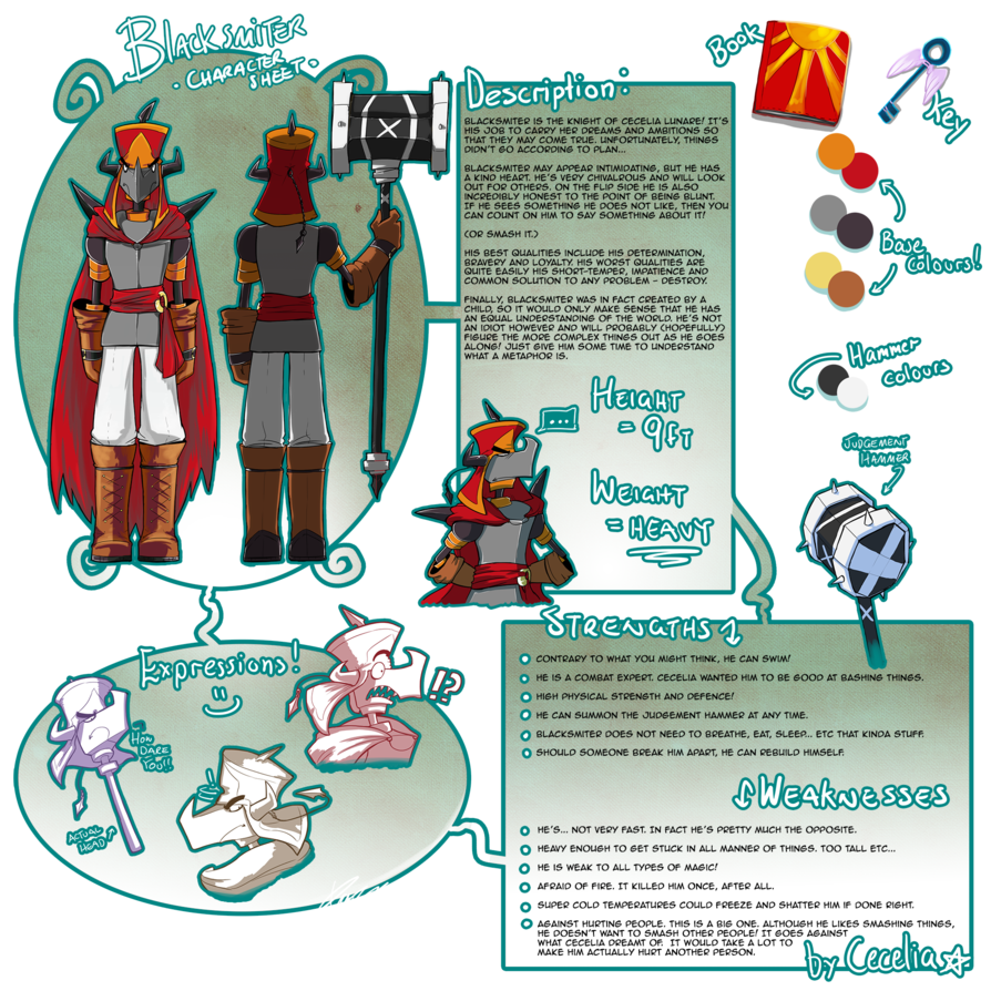 Blacksmiter character sheet by. Clipart hammer judgement