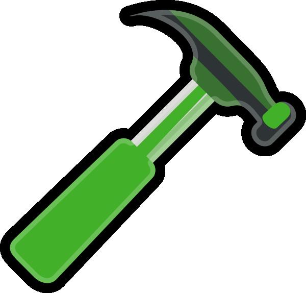 Hammer clipart hammar. Green gray clip art
