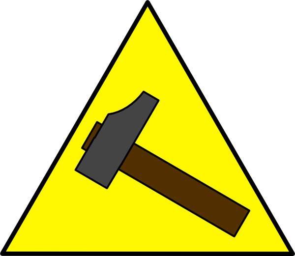 Sign clip art at. Clipart hammer large