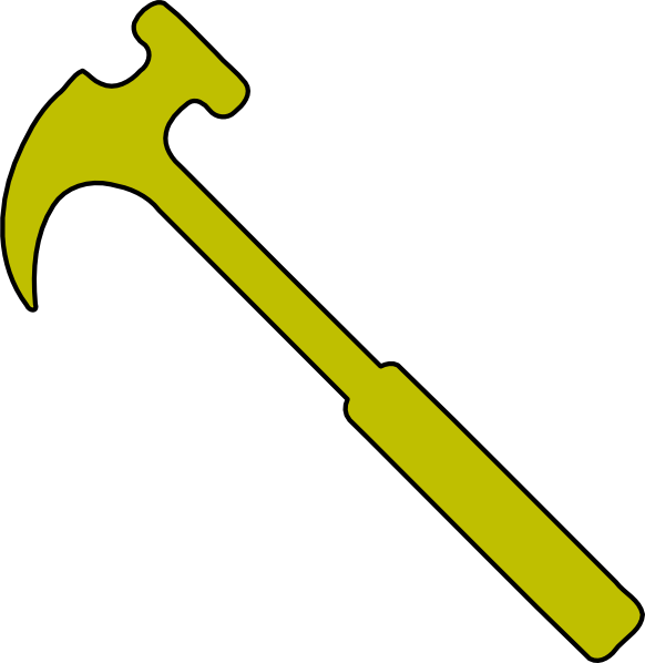 Clipart hammer large. Gold clip art at
