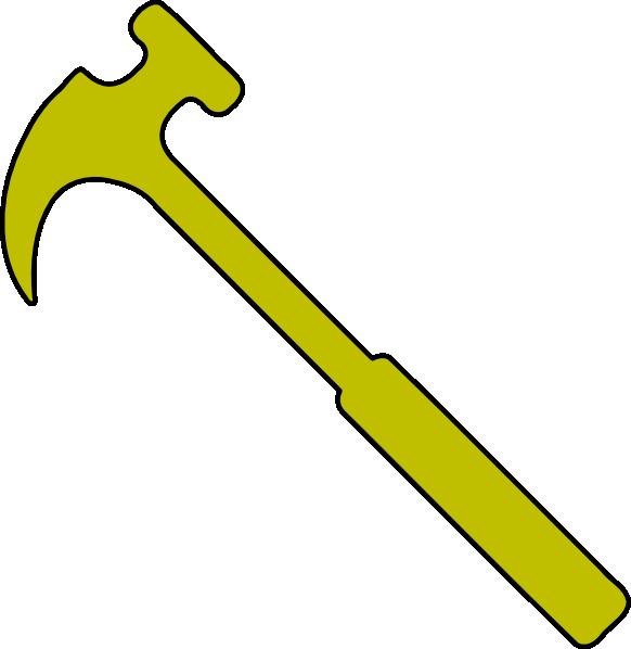 Hammer clipart hammer screwdriver. Gold clip art at