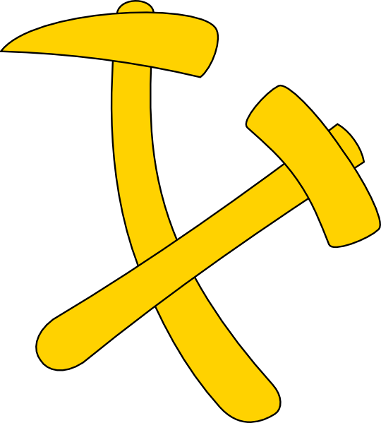 Axe and clip art. Hammer clipart yellow hammer