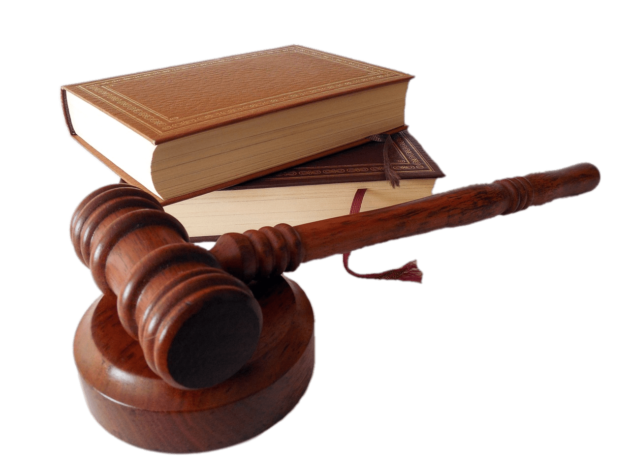Judges hammer and books. Gavel clipart common law