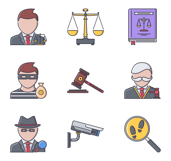 Clipart hammer law and order.  icon packs vector