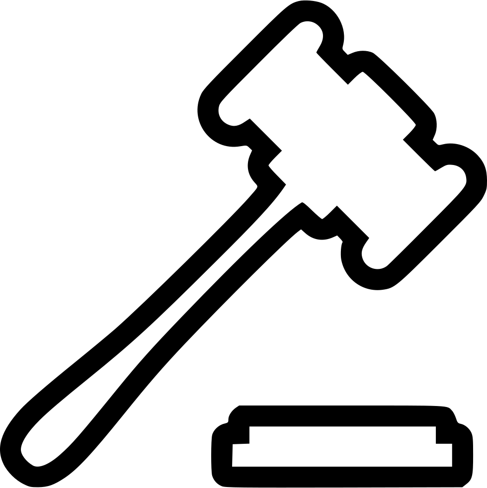 Clipart hammer lawyer. Svg png icon free