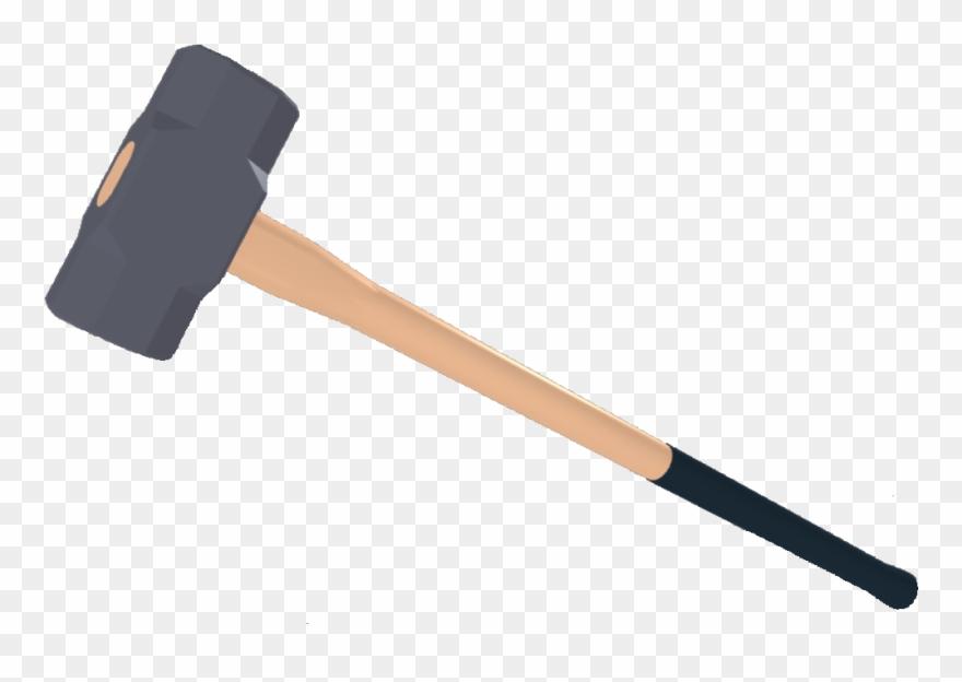Sledgehammer transparent . Hammer clipart left handed