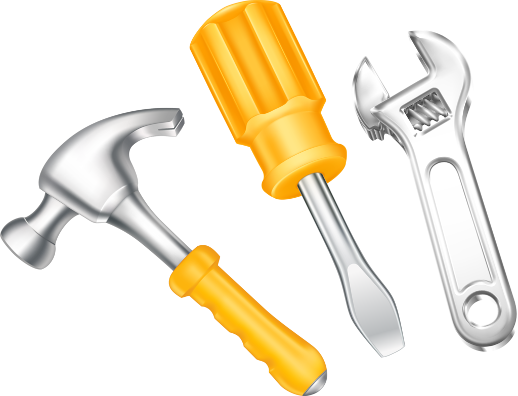 Keys clipart llave. Martillo destornillador inglesa construction