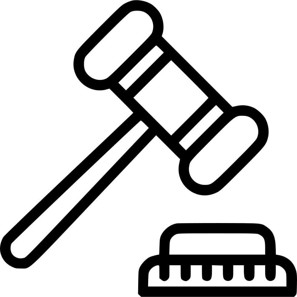 Clipart hammer mason. Auction sale closeout judge
