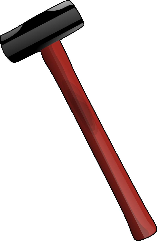 Clipart hammer metal. Sledgehammer panda free images