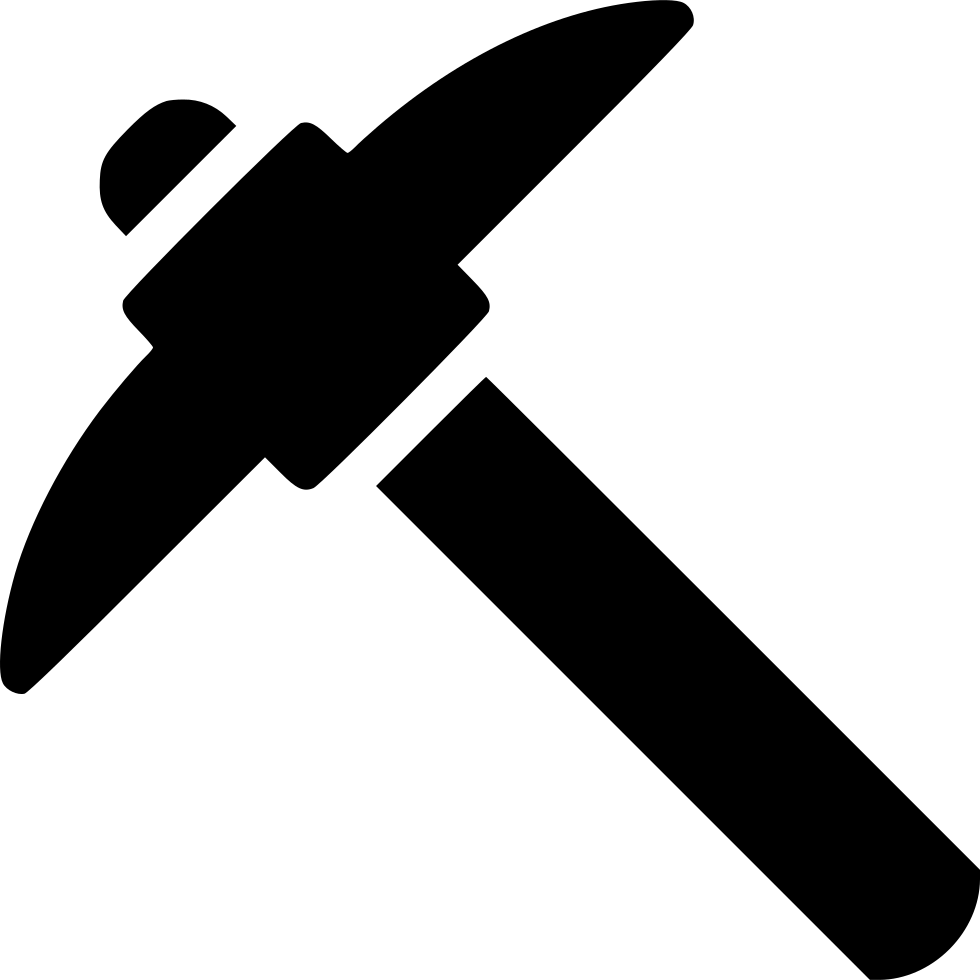 Clipart hammer mining. Pick svg png icon