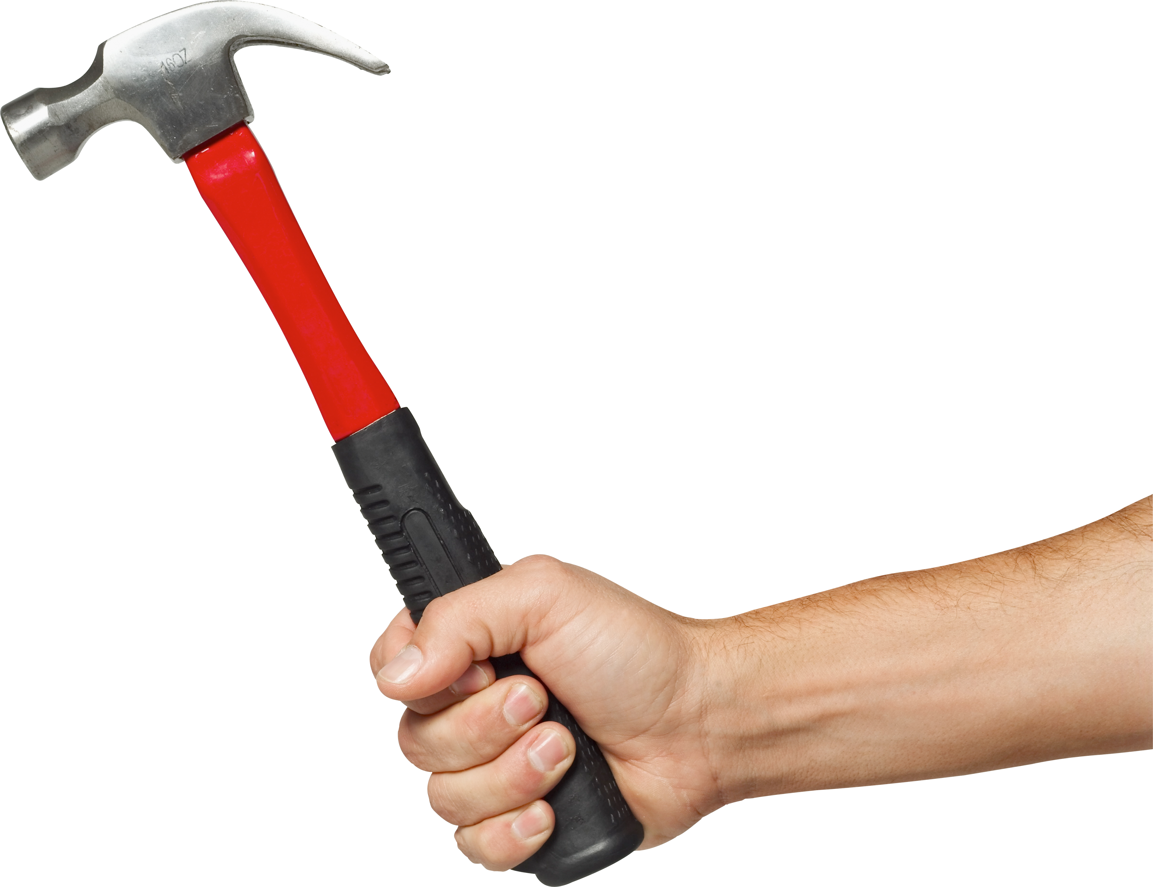 Clipart hammer nail screw. Hand holding four isolated