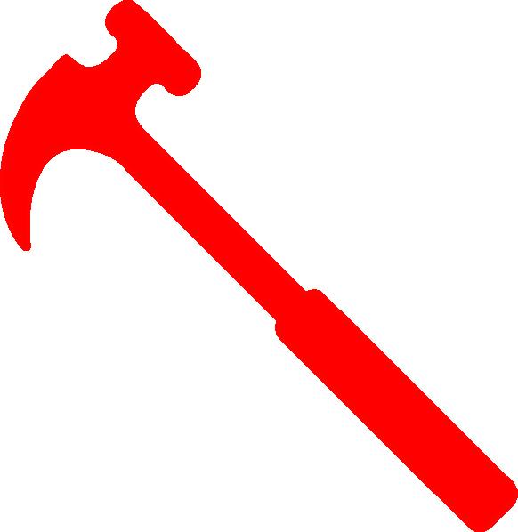 Nails clipart hammer nail. Red clip art at