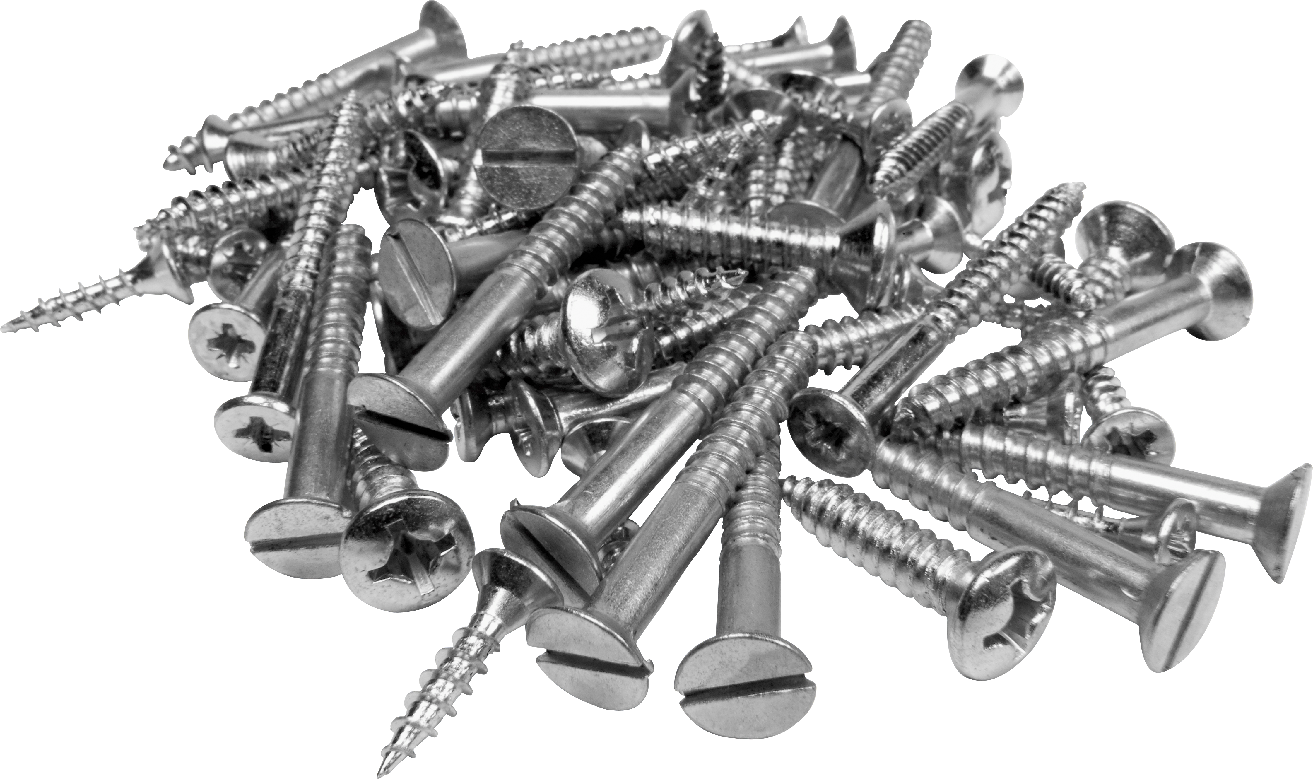 Two isolated stock photo. Clipart hammer nail screw
