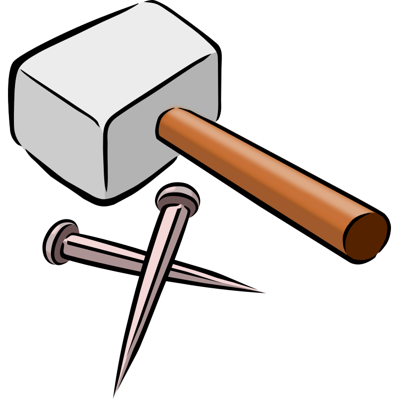 And nails clip art. Clipart hammer old hammer