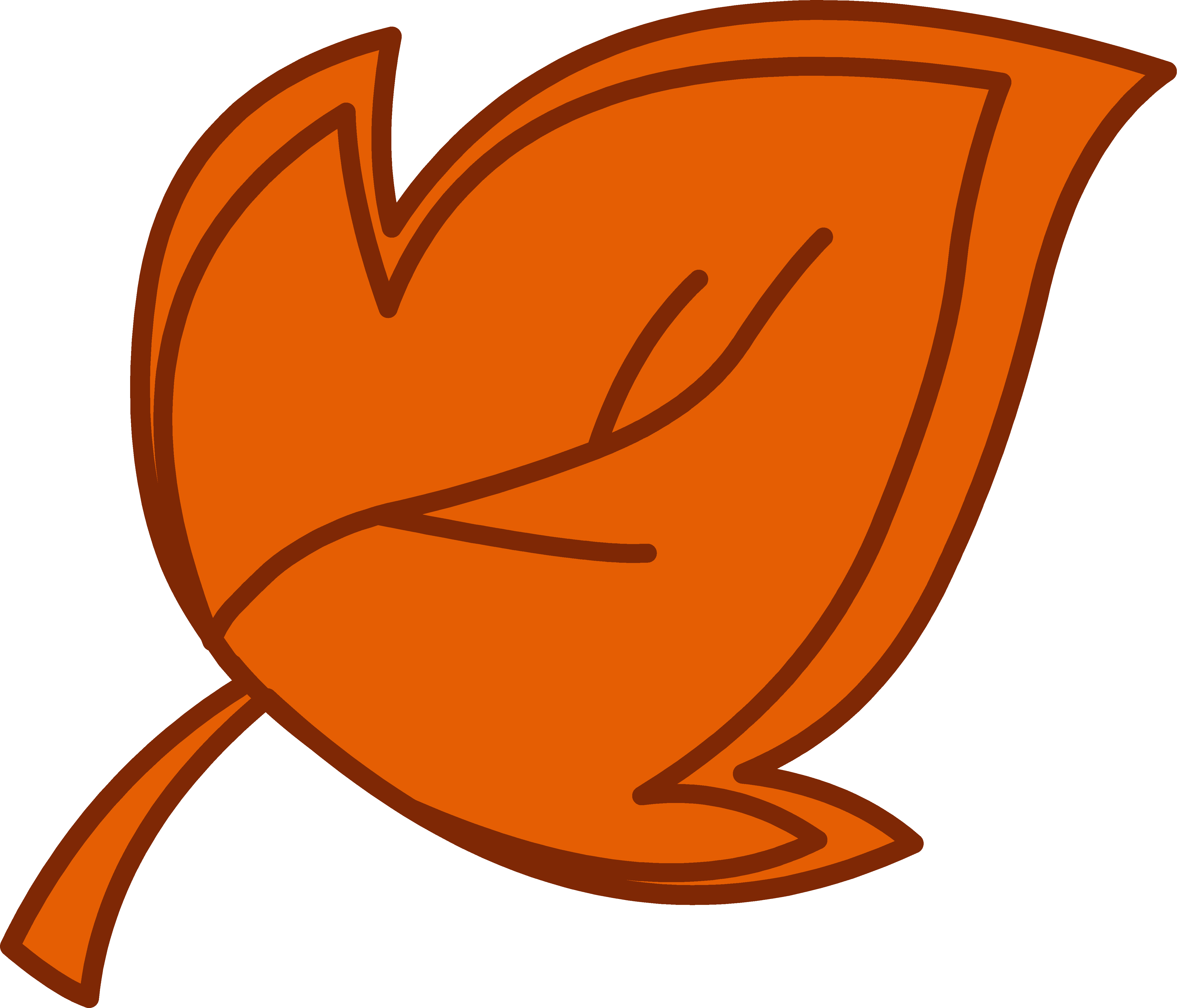 collection of leaves. Clipart hammer orange